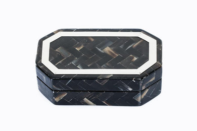 Cow's Horn Covered Wooden Jewelry Box - Khabodesigns