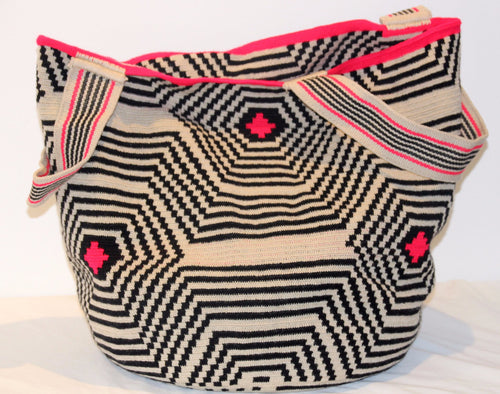 XL Tote  in Fish Eye Design - Khabodesigns
