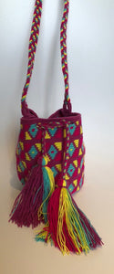 Violet Multi Geo Small Crossbody or Shoulder Mochila Bag - Khabodesigns