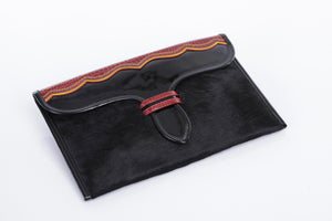 Clutch Bag in Carriel Design - Patent Leather - Khabodesigns