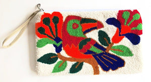 Clutch Bag Papagayo Motif - Loop knit - Khabodesigns