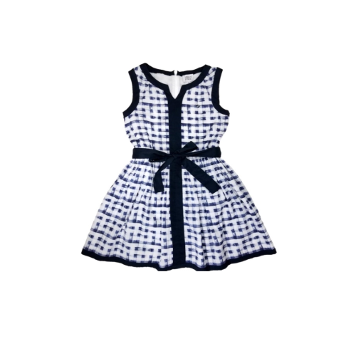 Armani navy & white dress