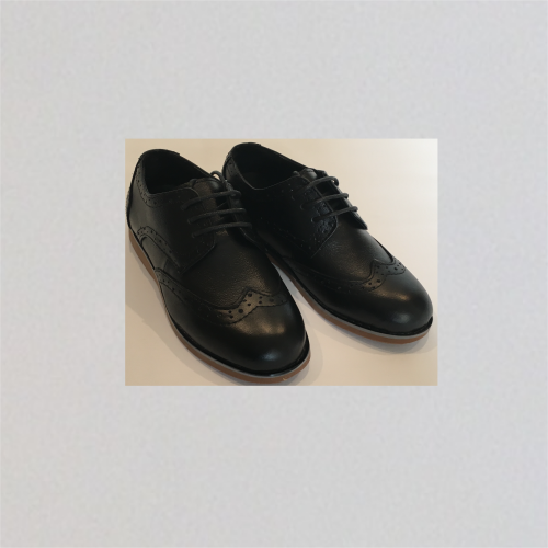 AXNY black brogue shoe