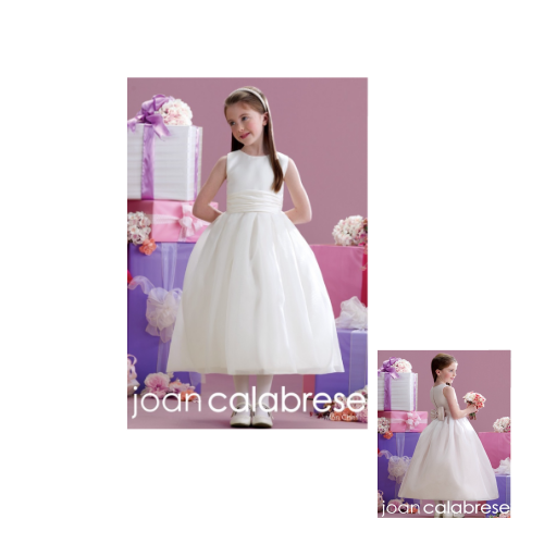 Joan Calabrese Petal/ivory dress