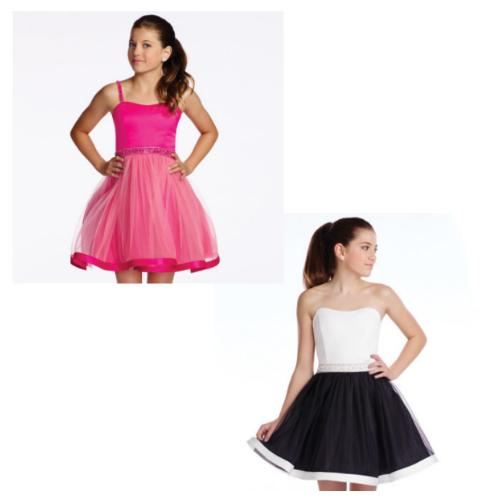 Lexie Dark/Light Pink & Black/Ivory Dress