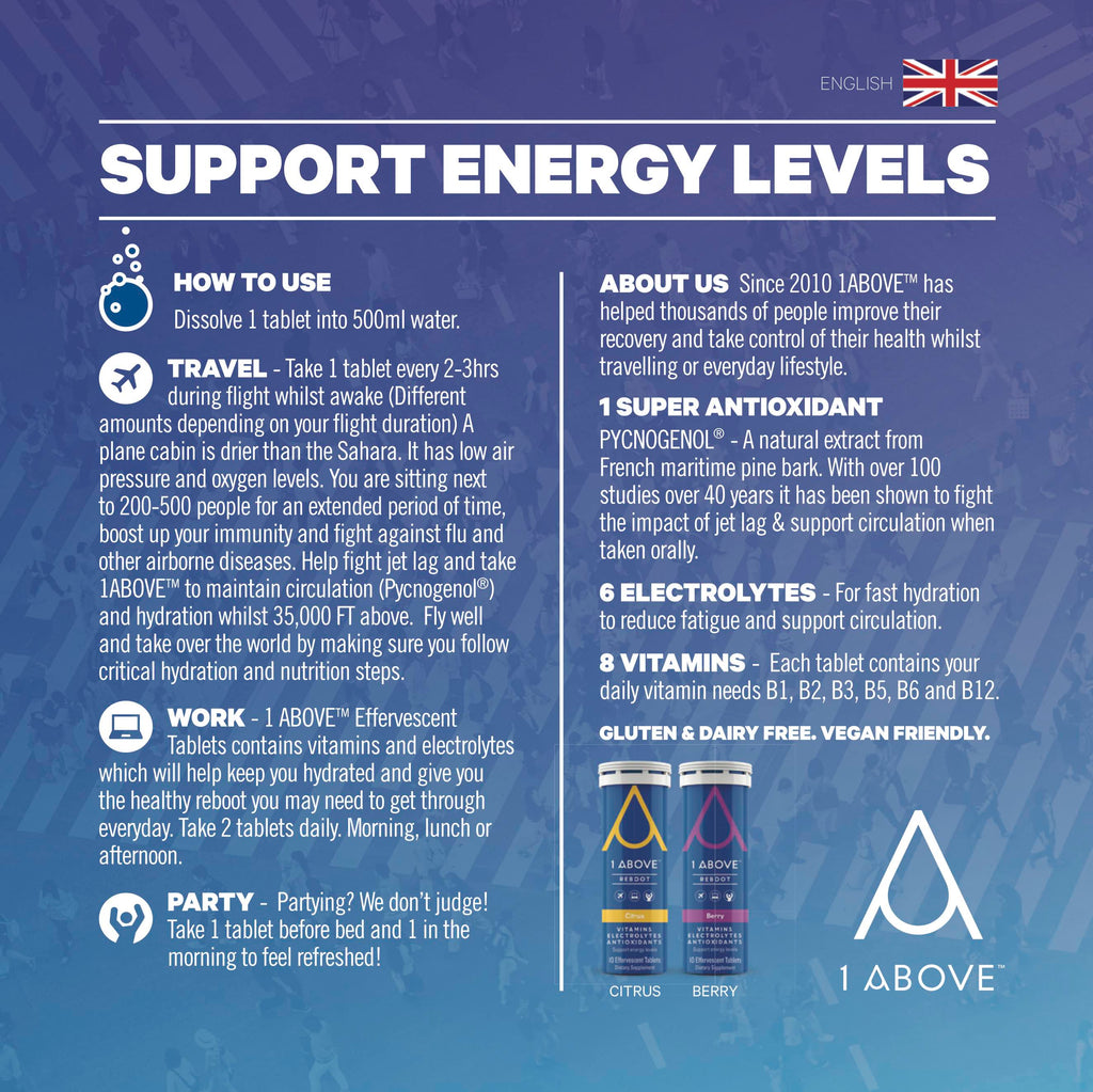 1Above Support Energy Levels - Travel Work Party How to Use