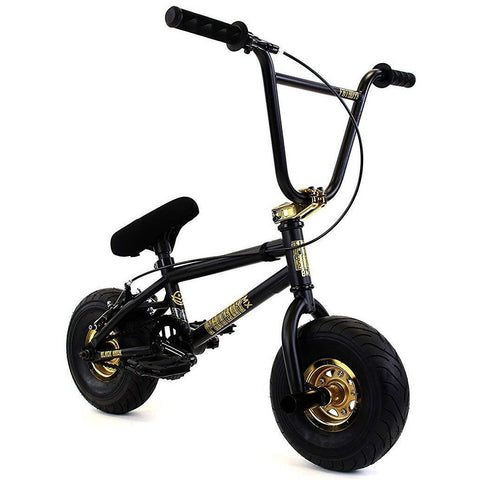 "FatBoy | Pro 10"" Mini BMX Bike - Black Hawk X Black Gold, Bike, FatBoy 