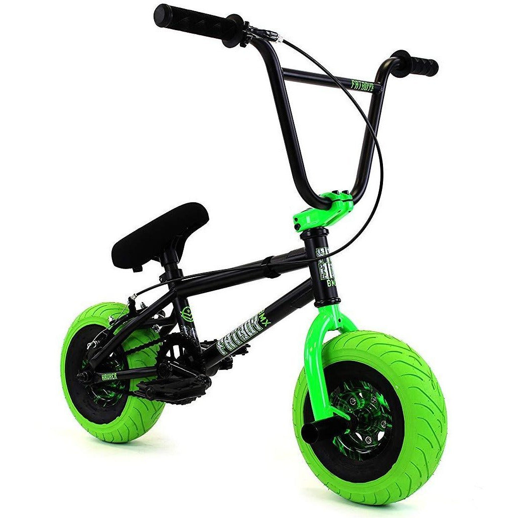 "FatBoy | Pro 10"" Mini BMX Bike - Hawker X Black Green, Bike, FatBoy 