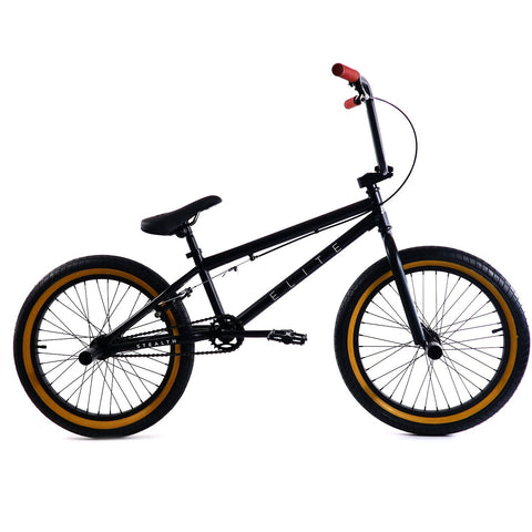 Elite BMX Stealth Black Gum, Bike, Brooklyn Fixed Gear | Brooklyn Fixed Gear and Single Speed Bikes
