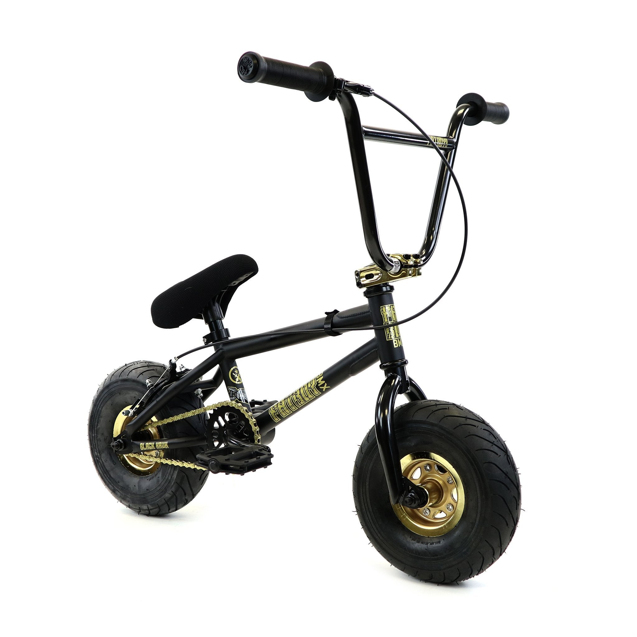 "FatBoy | Stunt 10"" Mini BMX Bike - Black Thunder Gold, Bike, FatBoy 