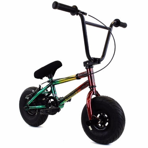 "FatBoy | Stunt 10"" Mini BMX Bike - Smoke Bomb Green Red Yellow"
