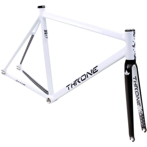 Throne Cycles | White Prism Fixed Gear Track Frameset, Part, Throne | Brooklyn Fixed Gear and Single Speed Bikes