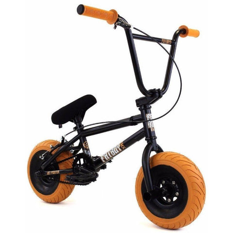 "FatBoy | Pro 10"" Mini BMX Bike - Jet Fighter X Black & Orange Gum, Bike, FatBoy 
