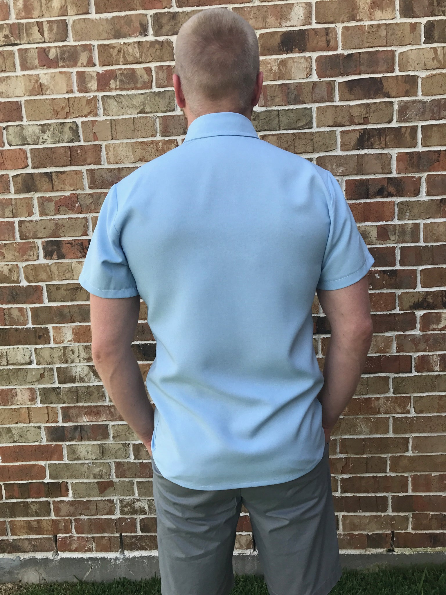 Short Sleeve Button-Up (Sky Blue)