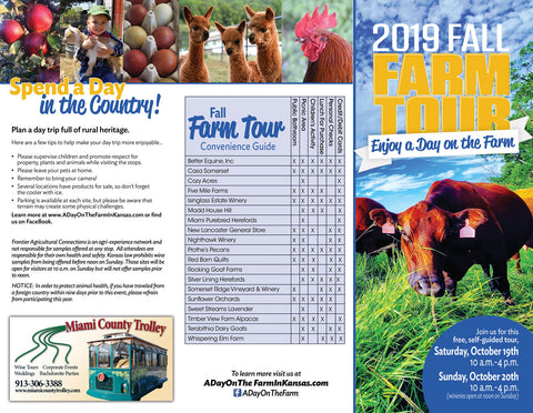Farm Tour Brochure