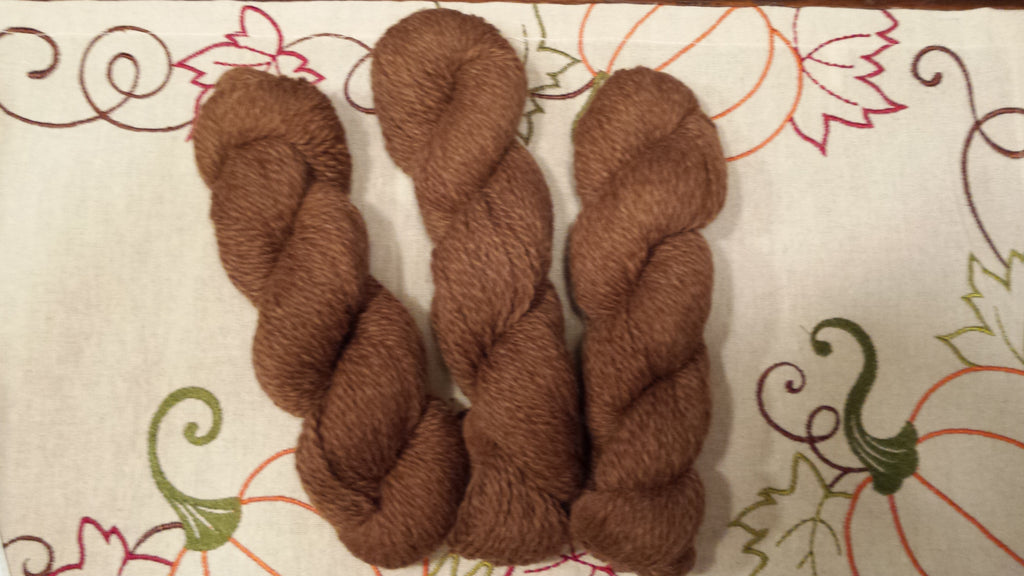 Yarn-Chestnut Zoe Brown- Worsted 2 Ply