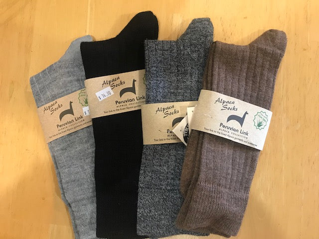 Socks-Alpaca Dress Socks-Ribbed Crew