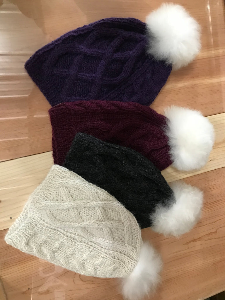 Hat-Pom Pom Cable Hat
