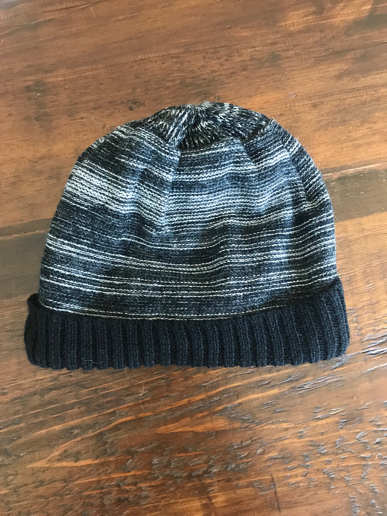 Hat-Striped Beanie Lined with Super Soft Felt