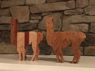Hand Crafted Standing Alpaca Puzzle-Click on the dots under the photo for more photos