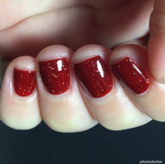 NeVermind Polish - Its Almost Dawn - Red winter nail polish