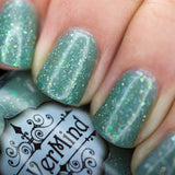 Sunlit Moss - Group Custom - NeVerMind Polish Nail Polish - Holographic Glitter  Crelly  Jelly Gift