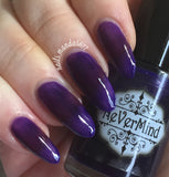 PRE-ORDER Purple Plasma - NeVerMind Polish Nail Polish - Holographic Glitter  Crelly  Jelly Gift