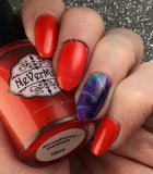 Strawberry Gashes - NeVerMind Polish Nail Polish - Holographic Glitter  Crelly  Jelly Gift