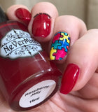 Raspberry Jelly - NeVerMind Polish Nail Polish - Holographic Glitter  Crelly  Jelly Gift