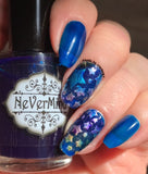 PRE-ORDER Blue Goo - NeVerMind Polish Nail Polish - Holographic Glitter  Crelly  Jelly Gift