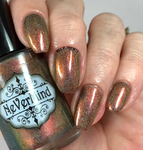 Marchosias - NeVerMind Polish Nail Polish - Holographic Glitter  Crelly  Jelly Gift