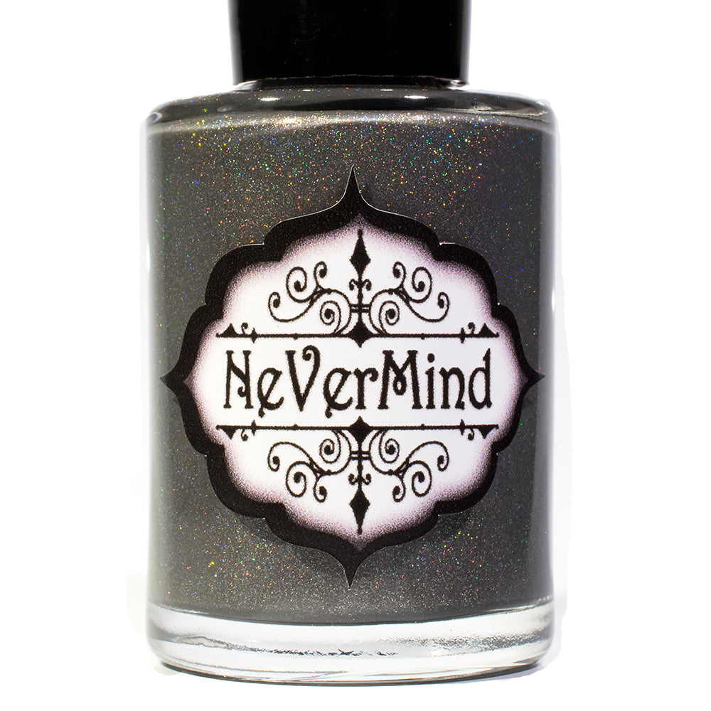 NeVerMind Polish - City Snow - Grey Holo Polish