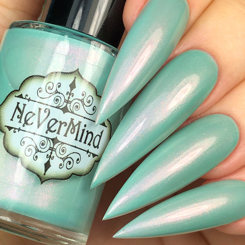 River Kelpie - NeVerMind Polish Nail Polish - Holographic Glitter  Crelly  Jelly Gift