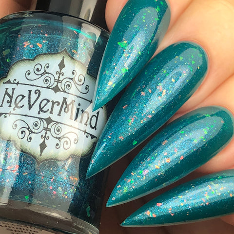 Undine Spirit - NeVerMind Polish Nail Polish - Holographic Glitter  Crelly  Jelly Gift