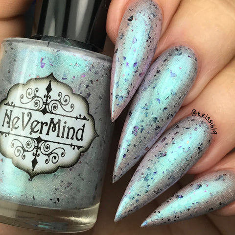 Siren Song - NeVerMind Polish Nail Polish - Holographic Glitter  Crelly  Jelly Gift