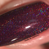 NeVerMind Polish - Christmas Mass-acre - Red Holographic holo polish - Winter Solstice collection