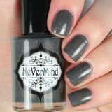 NeVerMind Polish - City Snow - Grey Holographic holo polish - Winter Solstice collection