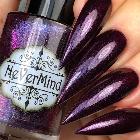 Glam Trash - NeVerMind Polish Nail Polish - Holographic Glitter  Crelly  Jelly Gift