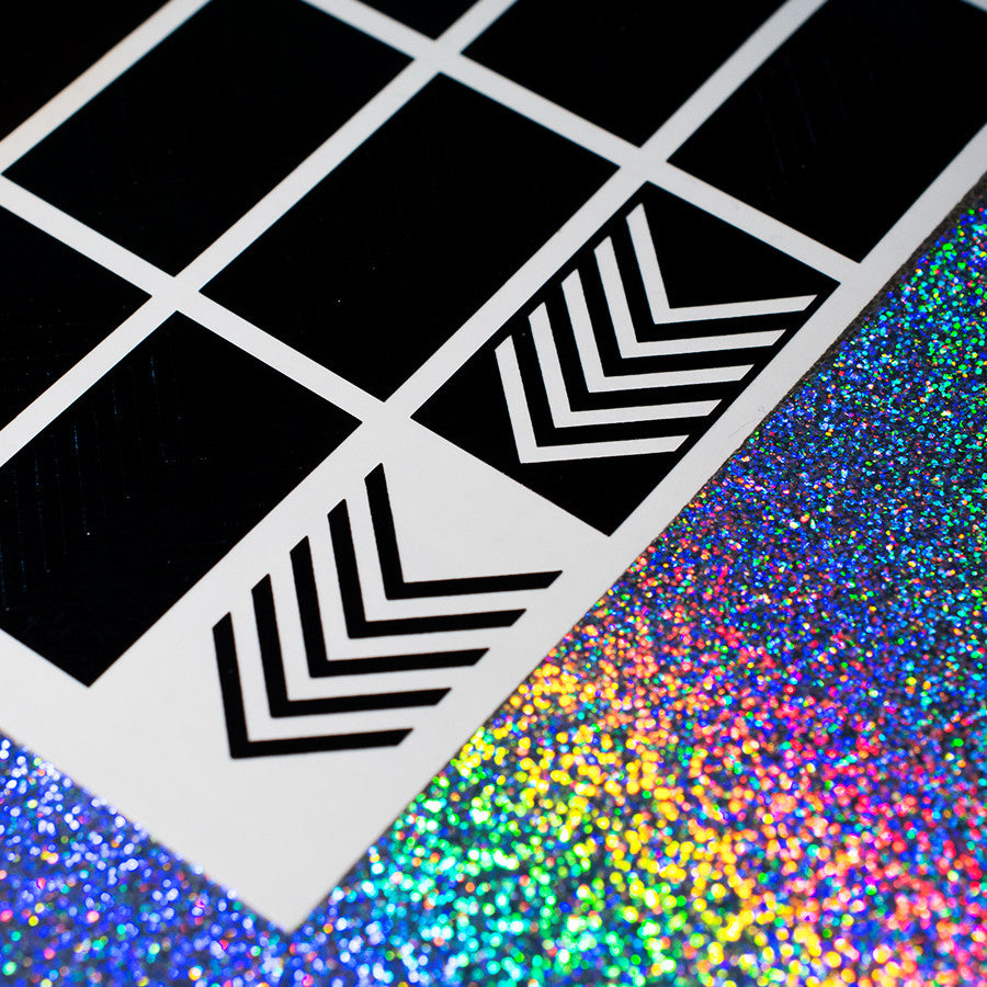 V Stripes - NeVerMind Polish Nail Vinyls - Holographic Glitter  Crelly  Jelly Gift