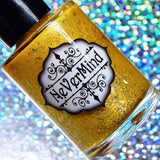 Makers Dozen - Not All that Glitters is Gold - NeVerMind Polish Nail Polish - Holographic Glitter  Crelly  Jelly Gift