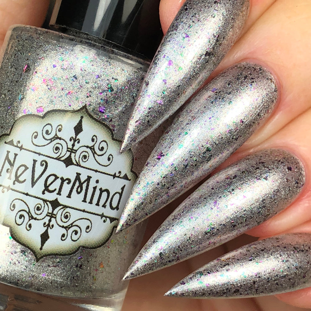 Tragic Disco - NeVerMind Polish Nail Polish - Holographic Glitter  Crelly  Jelly Gift
