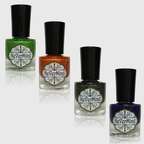 This is Halloween - Petites - NeVerMind Polish Nail Polish - Holographic Glitter  Crelly  Jelly Gift