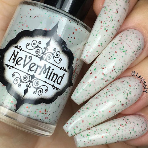 Christmas Cookies - NeVerMind Polish Nail Polish - Holographic Glitter  Crelly  Jelly Gift