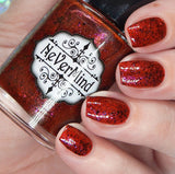 Makers Dozen - Raving Red - NeVerMind Polish Nail Polish - Holographic Glitter  Crelly  Jelly Gift