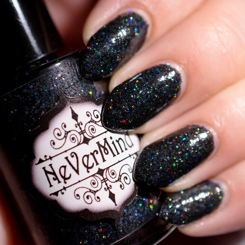 Melanite - NeVerMind Polish Nail Polish - Holographic Glitter  Crelly  Jelly Gift