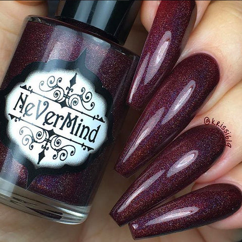 Christmas Mass-acre - NeVerMind Polish Nail Polish - Holographic Glitter  Crelly  Jelly Gift