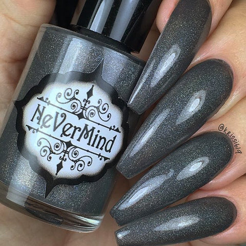 City Snow - NeVerMind Polish Nail Polish - Holographic Glitter  Crelly  Jelly Gift