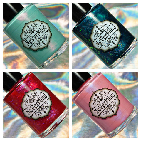 Sea Spirits Collection - NeVerMind Polish Nail Polish - Holographic Glitter  Crelly  Jelly Gift
