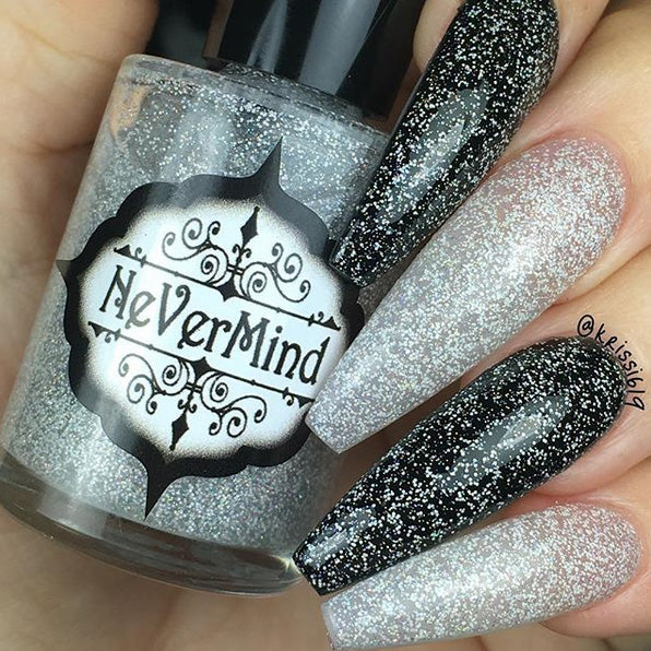 Snow Daze - NeVerMind Polish Nail Polish - Holographic Glitter  Crelly  Jelly Gift