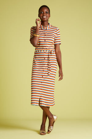 Bild in Slideshow öffnen, King Louie Rose Slim Fit Dress Daydream Stripe